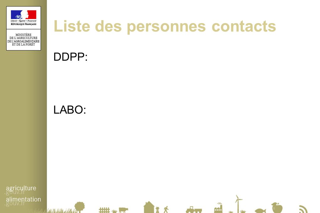 Liste des personnes contacts