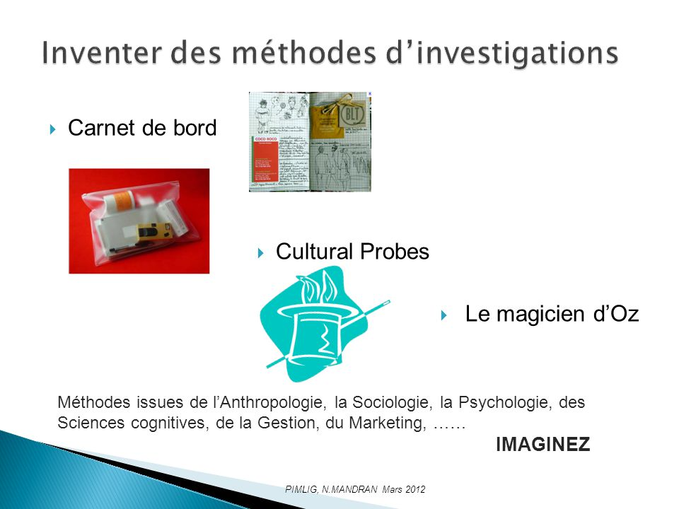 Inventer des méthodes d'investigations