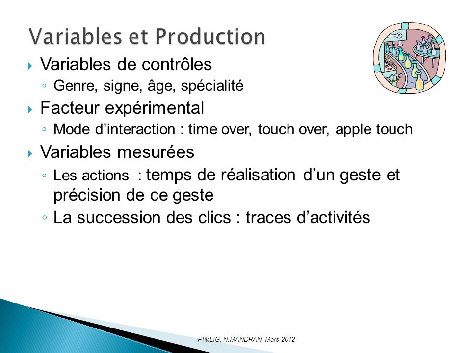 Variables et Production