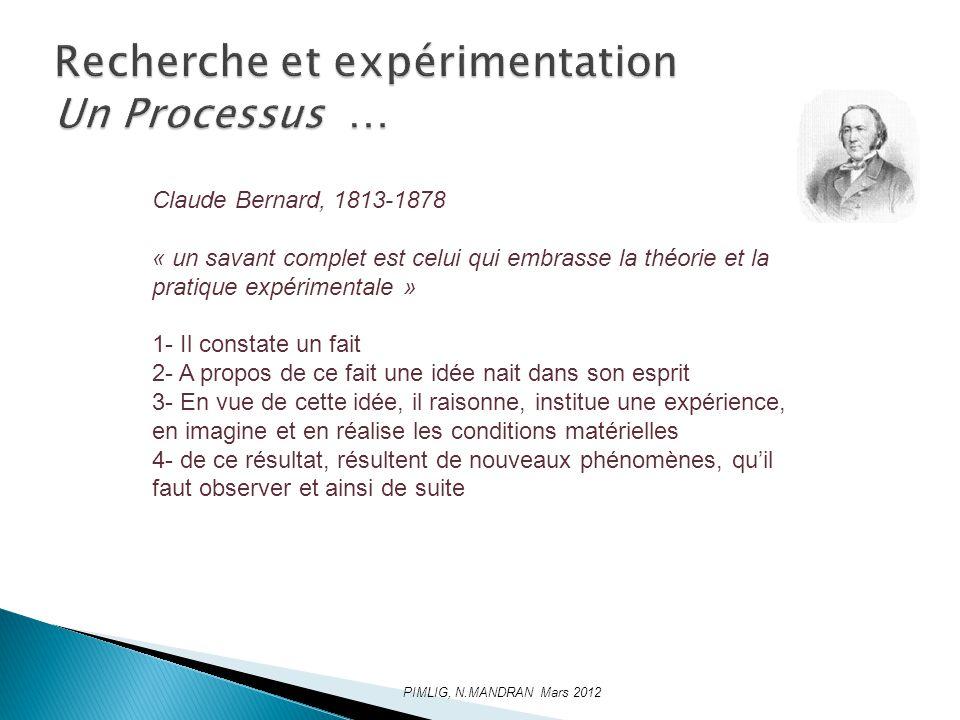 Recherche et expérimentation Un Processus …