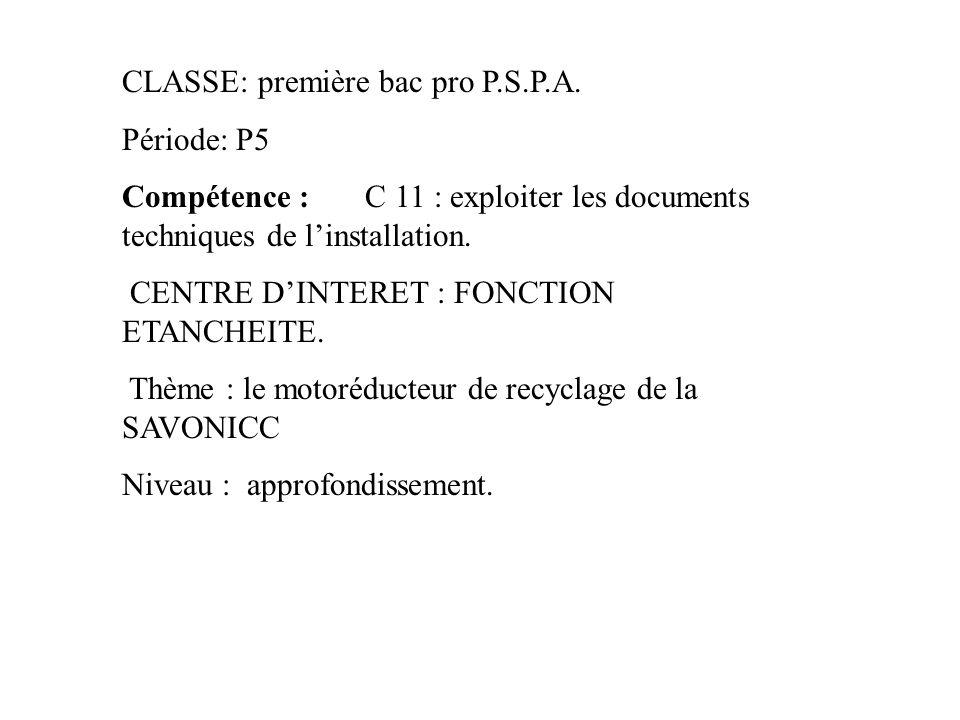 CLASSE: première bac pro P.S.P.A.
