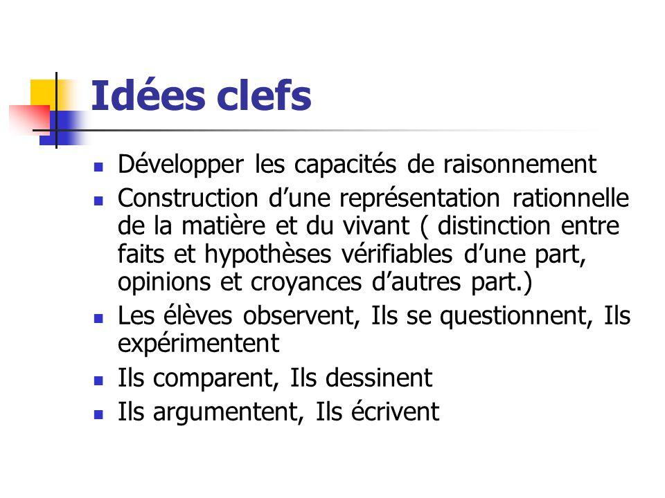 Idées clefs Développer les capacités de raisonnement