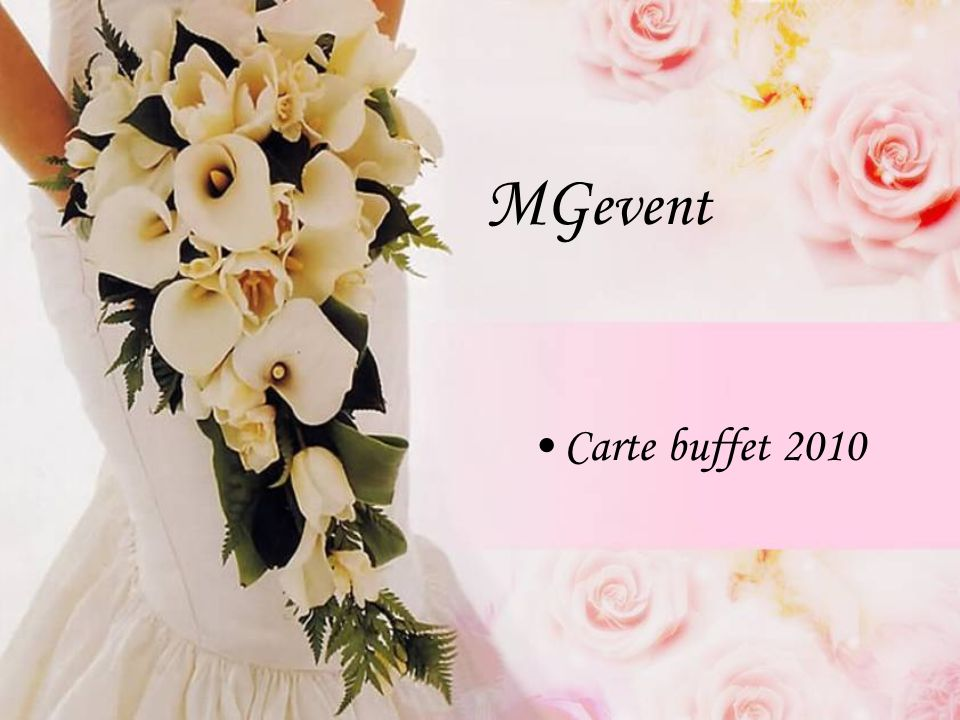 MGevent Carte buffet 2010