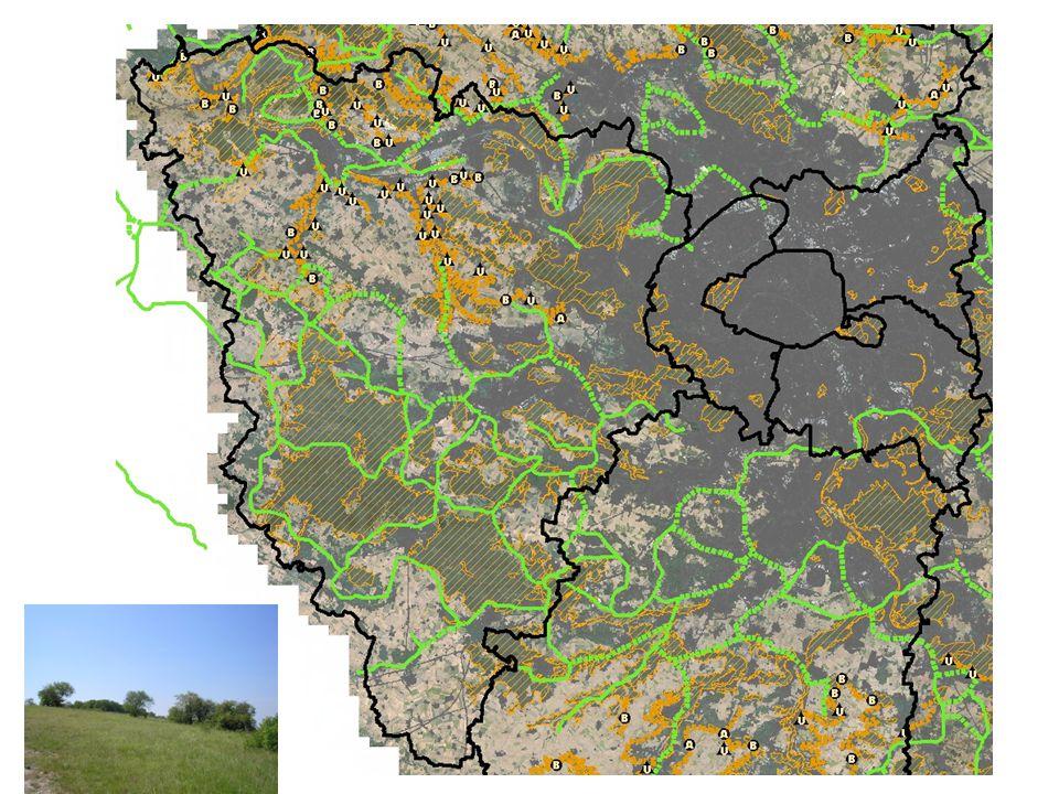 Coteau de l'aubette (NO), de Montcient (centre), du Ru de Fontenay (les B et U)