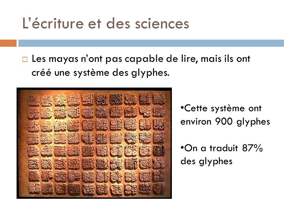 L'écriture et des sciences