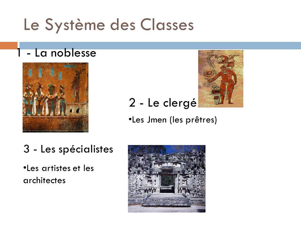 Le Système des Classes 1 - La noblesse 2 - Le clergé