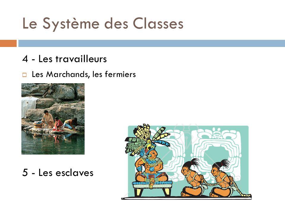 Le Système des Classes 4 - Les travailleurs 5 - Les esclaves