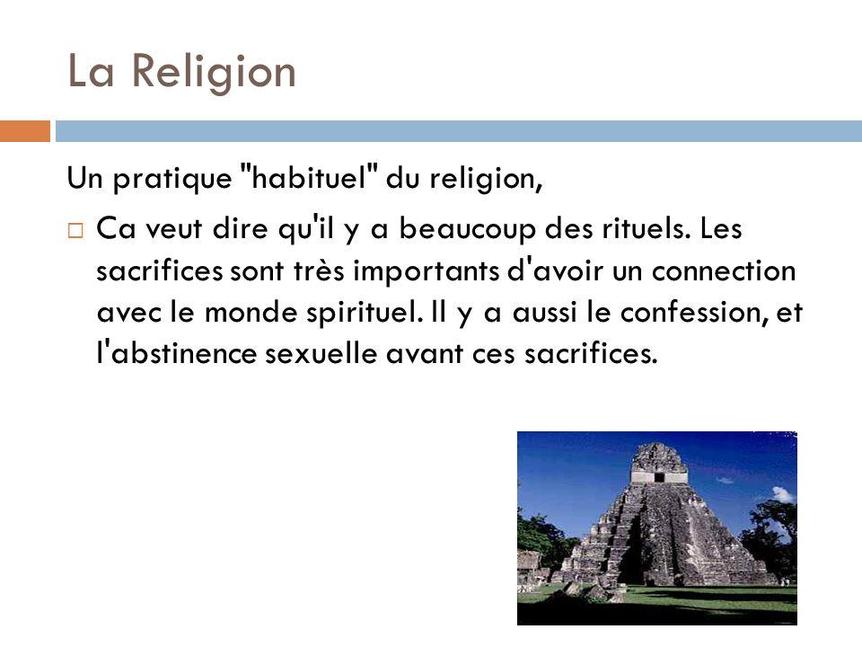 La Religion Un pratique habituel du religion,