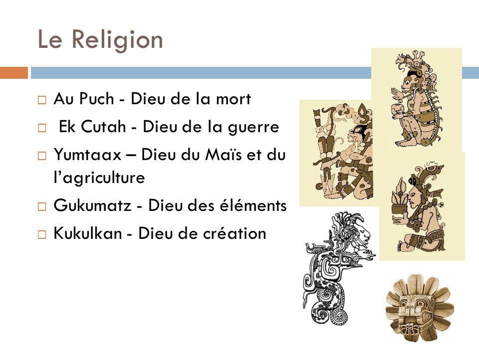 Le Religion Au Puch - Dieu de la mort Ek Cutah - Dieu de la guerre