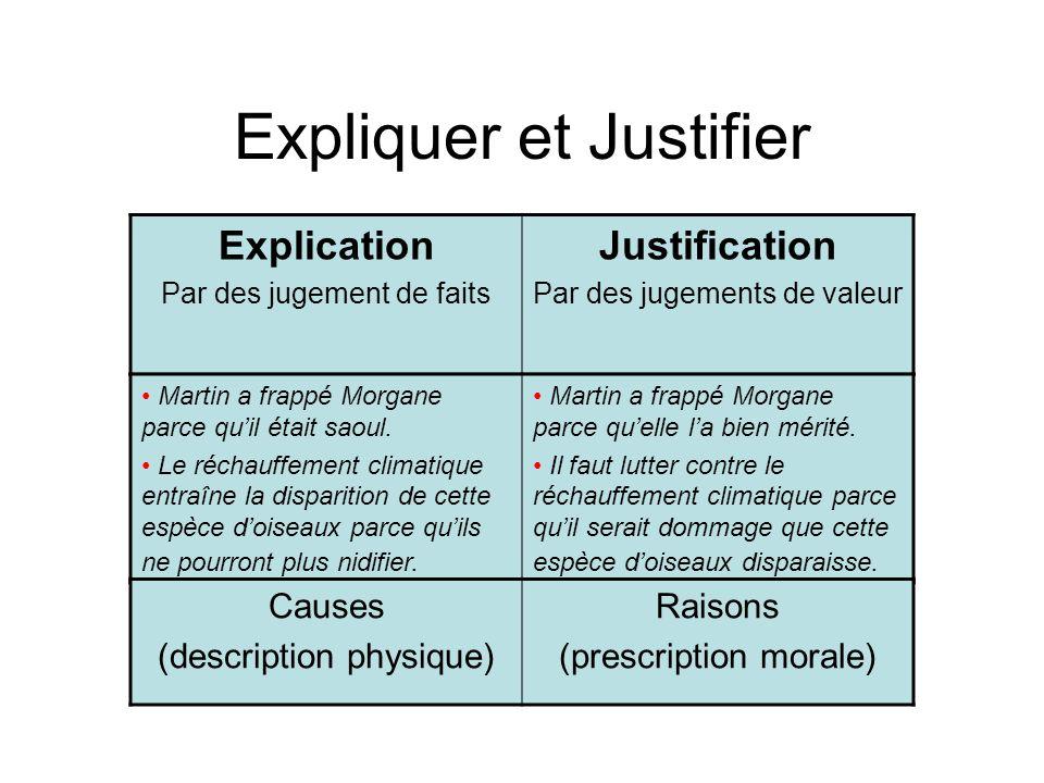 Expliquer et Justifier