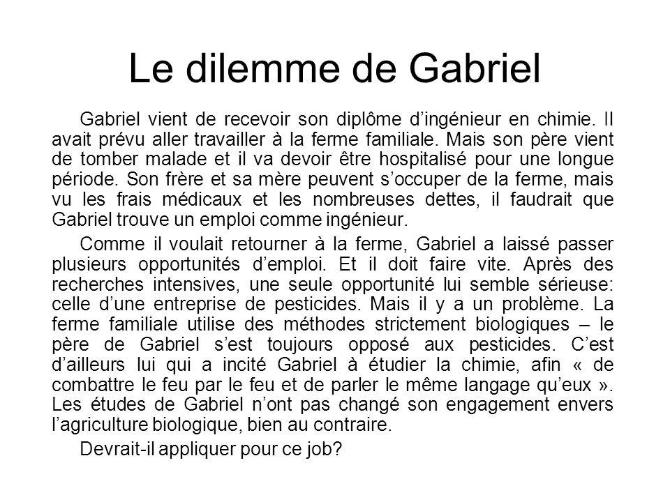 Le dilemme de Gabriel