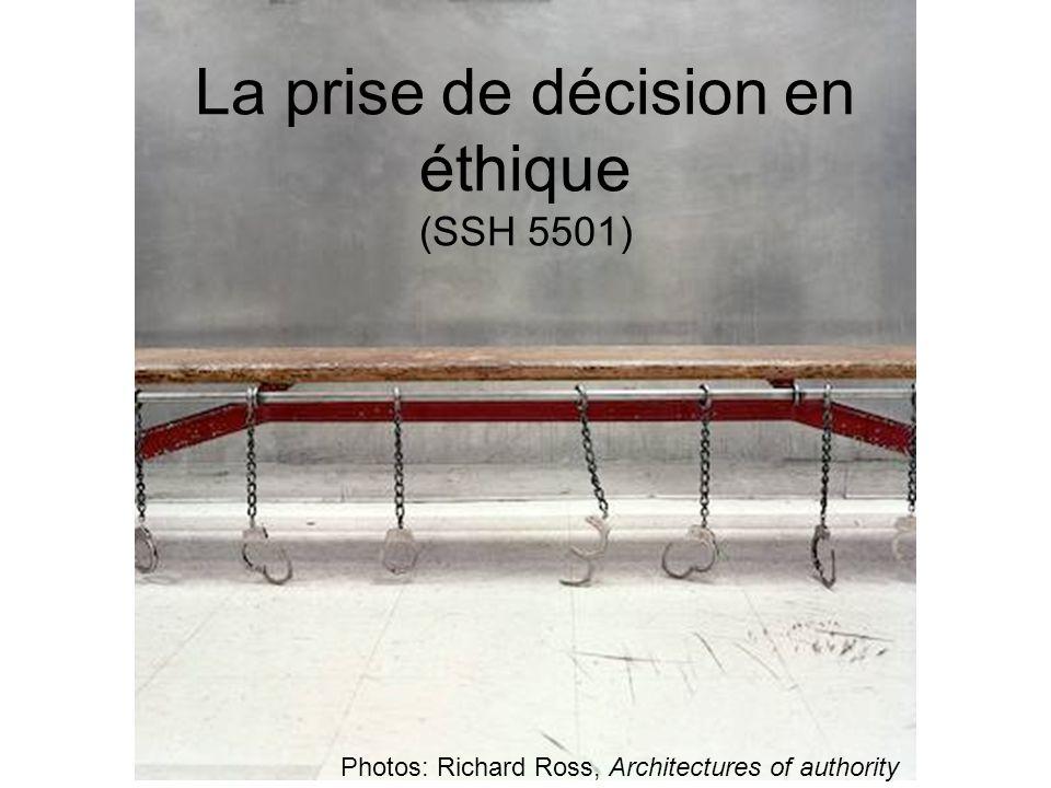 La prise de décision en éthique (SSH 5501)