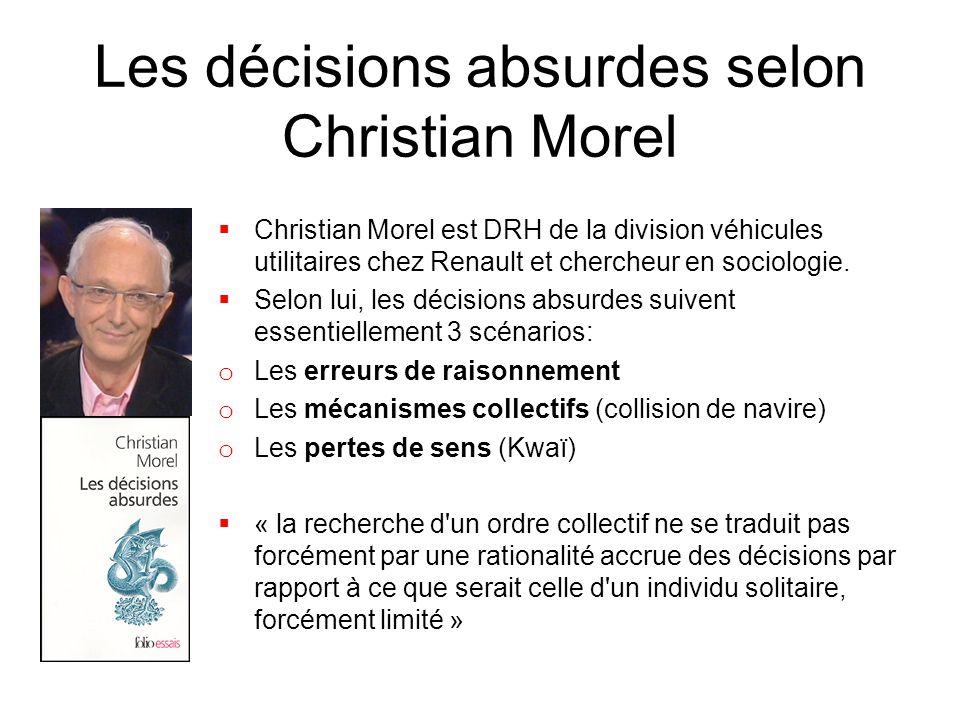 Les décisions absurdes selon Christian Morel