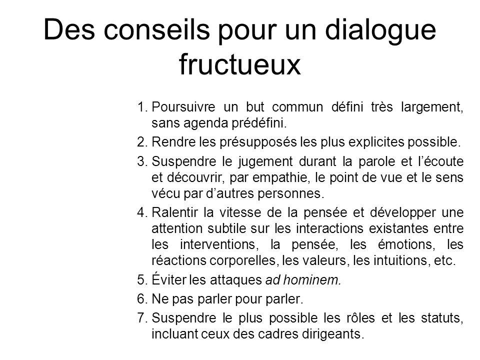 Des conseils pour un dialogue fructueux