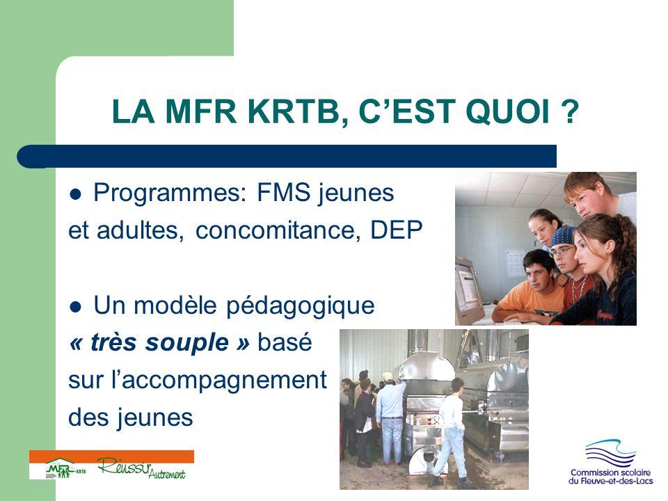 LA MFR KRTB, C'EST QUOI Programmes: FMS jeunes