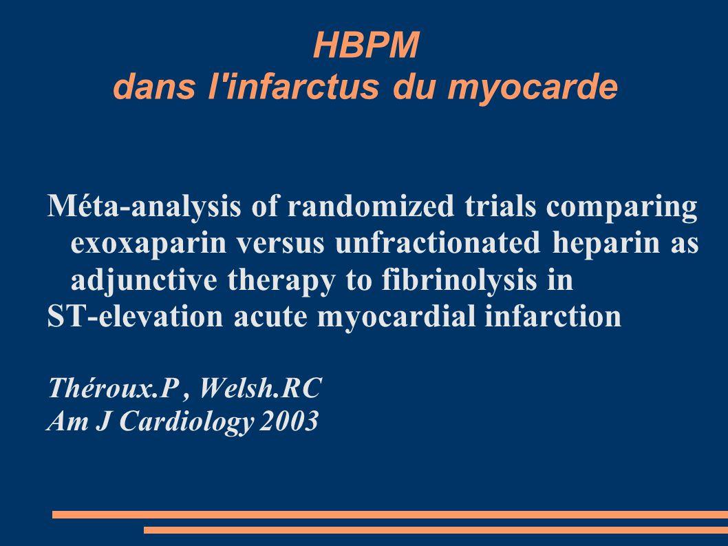 HBPM dans l infarctus du myocarde