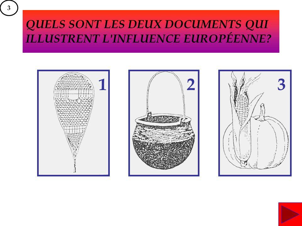 QUELS SONT LES DEUX DOCUMENTS QUI ILLUSTRENT L INFLUENCE EUROPÉENNE