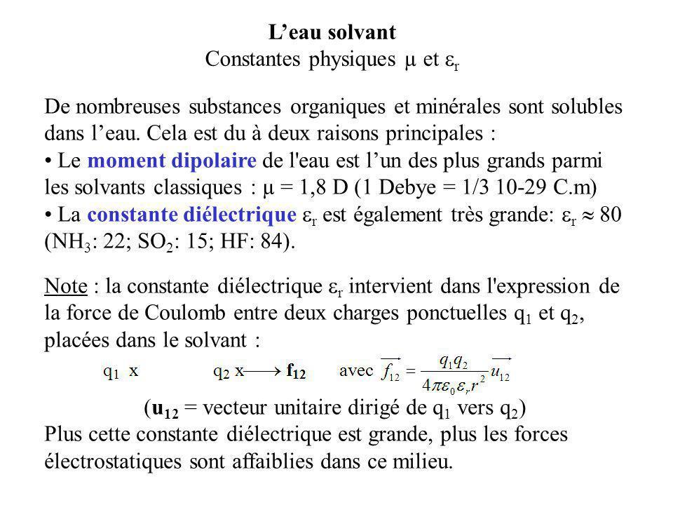 Constantes physiques µ et r