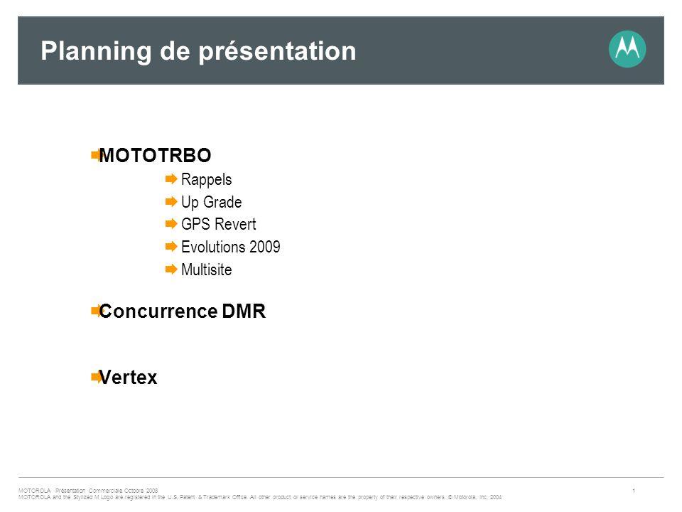 Planning de présentation
