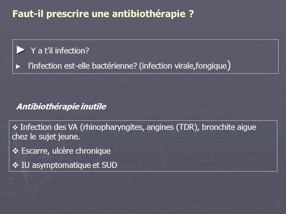Faut-il prescrire une antibiothérapie
