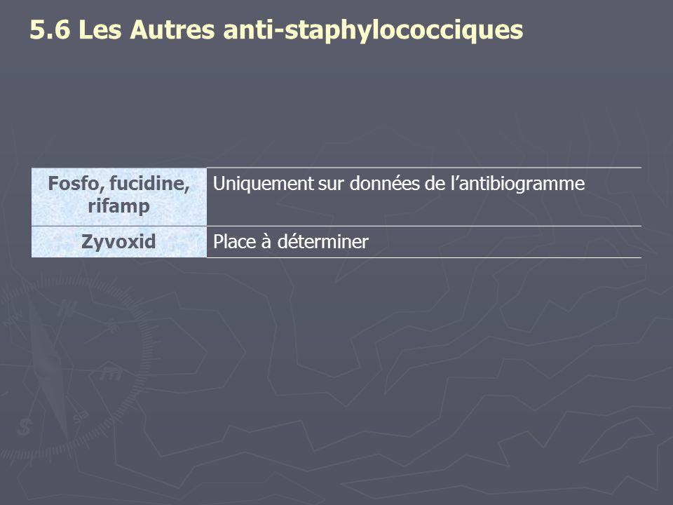5.6 Les Autres anti-staphylococciques
