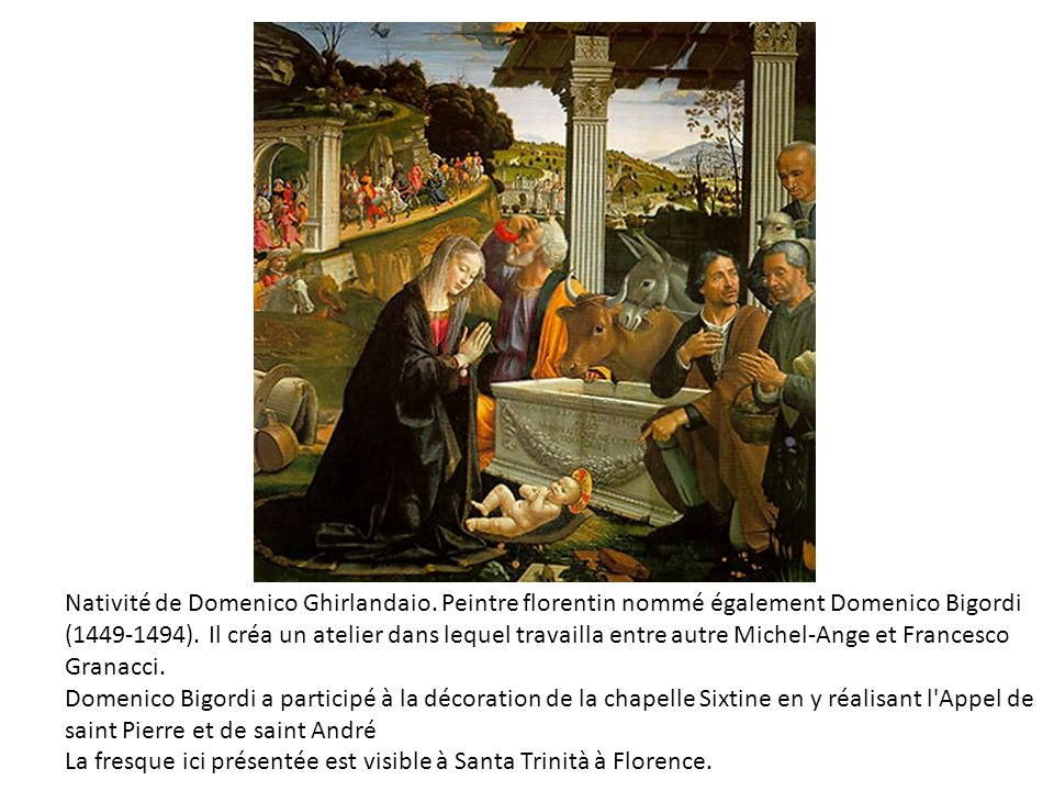Nativité de Domenico Ghirlandaio