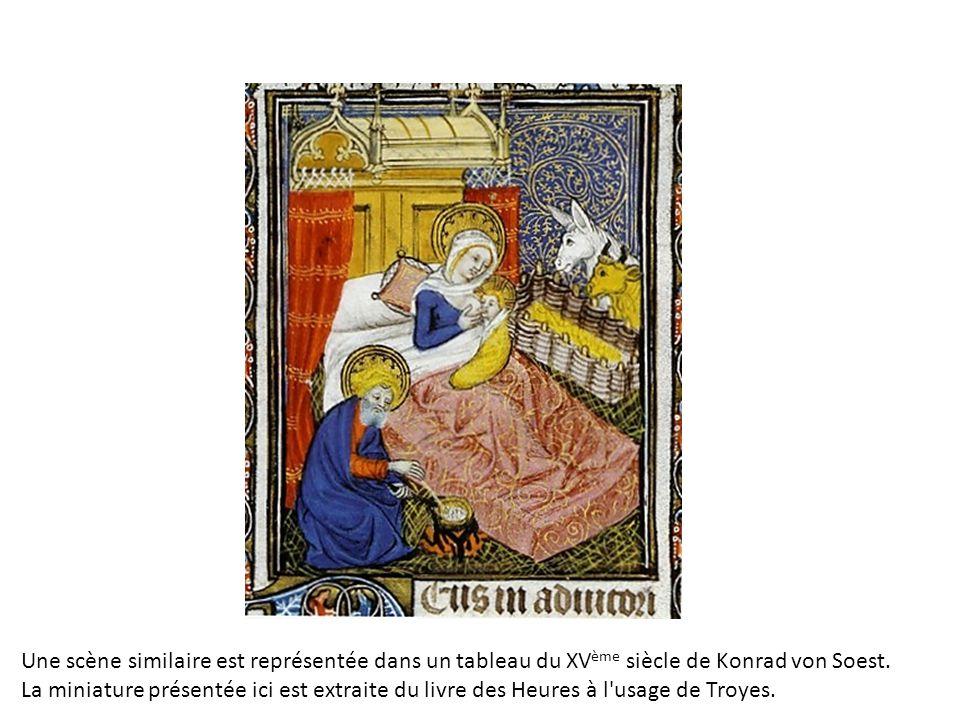Une scène similaire est représentée dans un tableau du XVème siècle de Konrad von Soest.