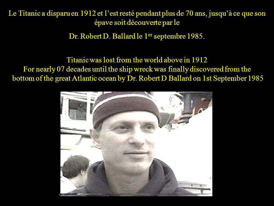 Dr. Robert D. Ballard le 1er septembre 1985.