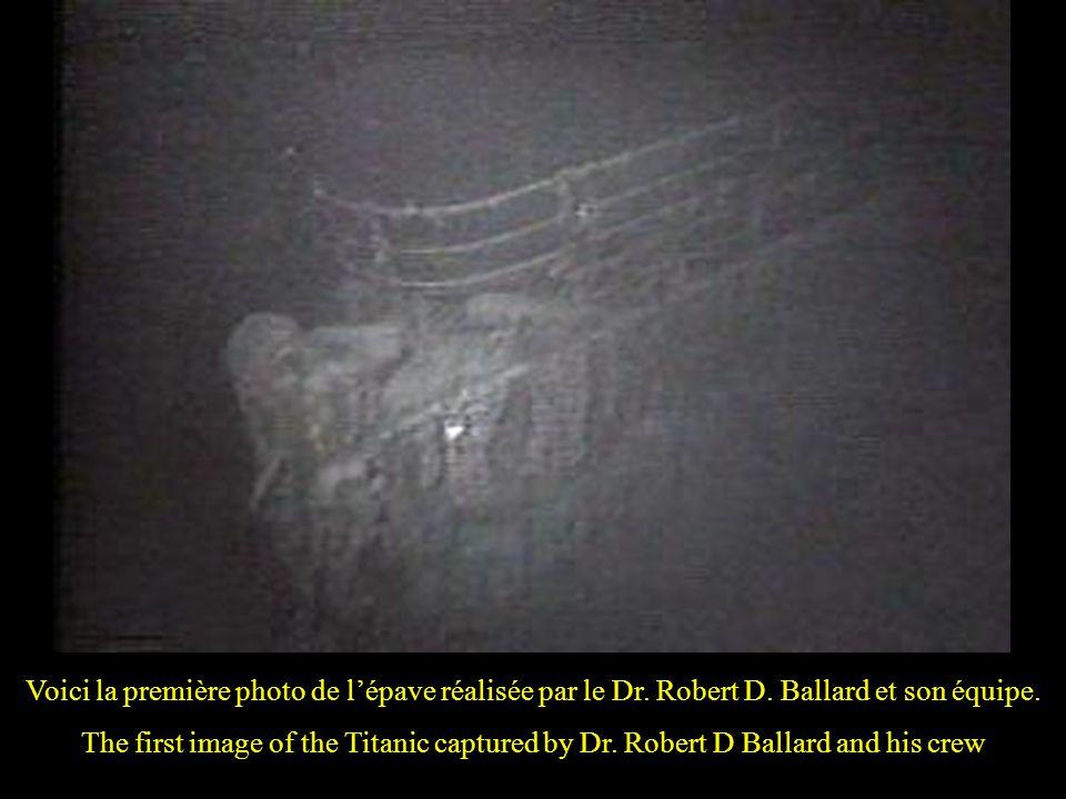 Voici la première photo de l'épave réalisée par le Dr. Robert D