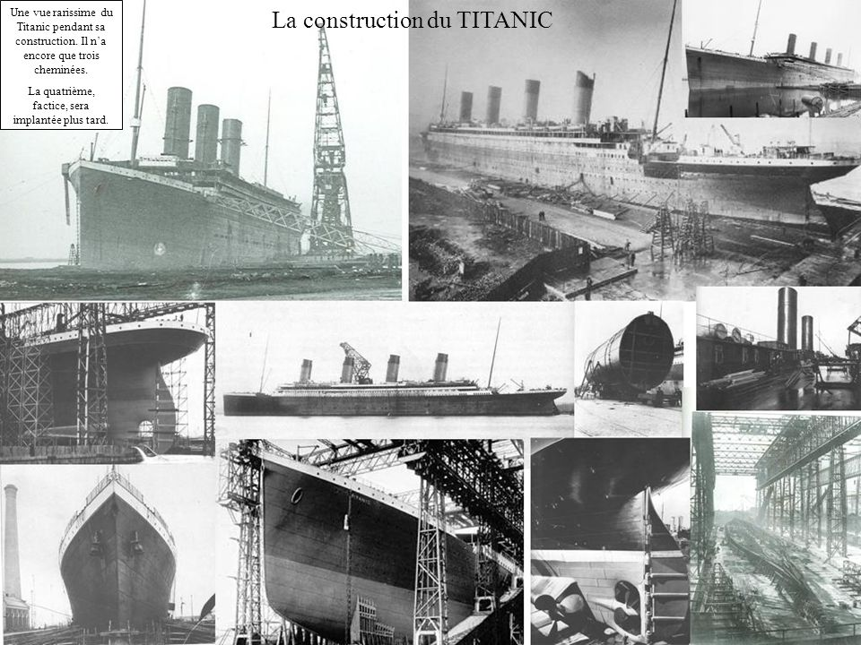 La construction du TITANIC