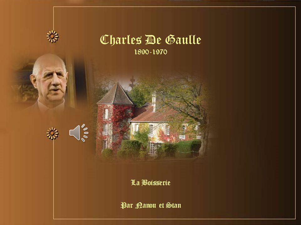 Charles De Gaulle 1890-1970 La Boisserie Par Nanou et Stan