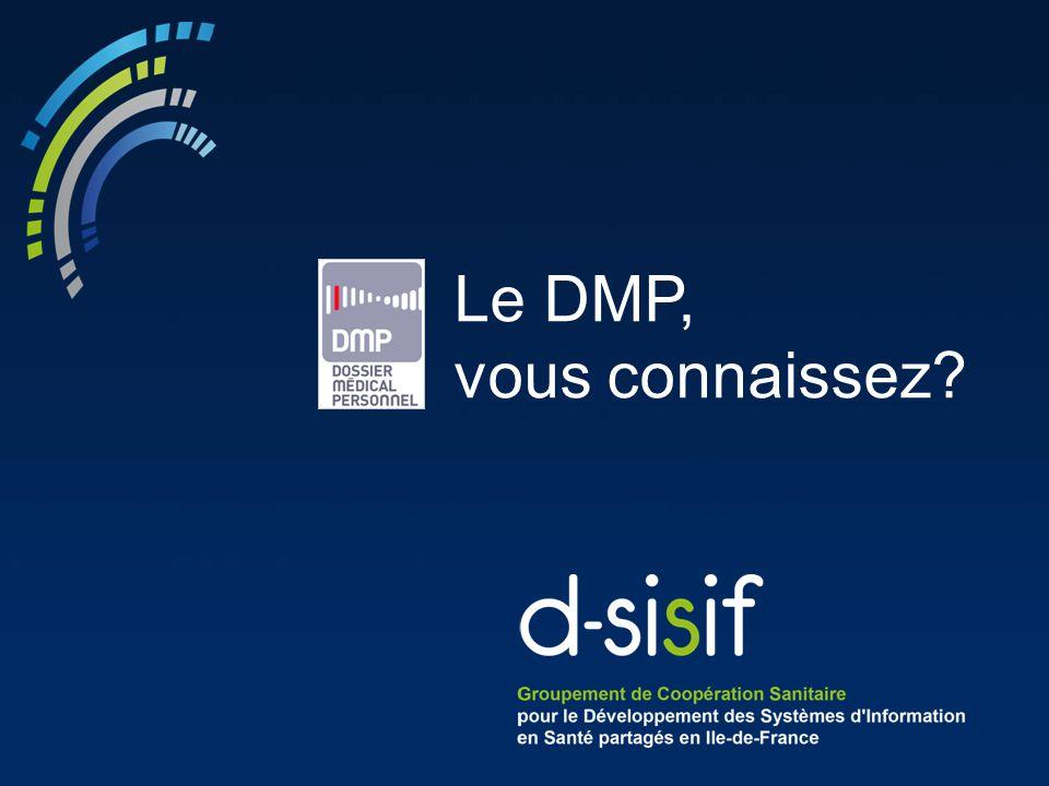 Le DMP, vous connaissez Lancement de la présentation