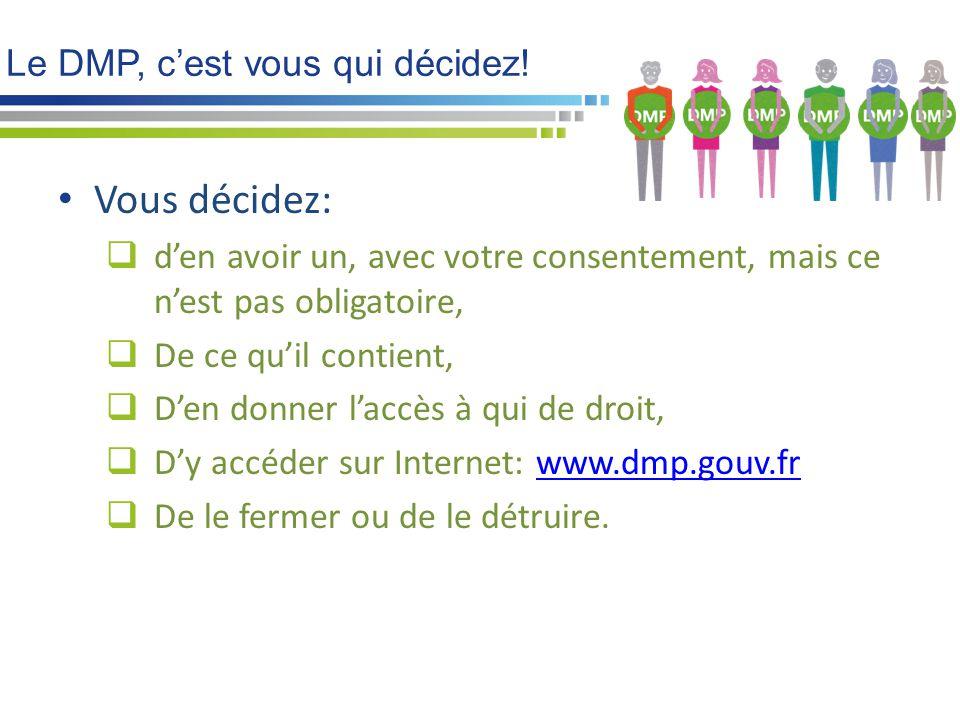 Le DMP, c'est vous qui décidez!