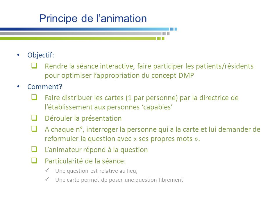 Principe de l'animation