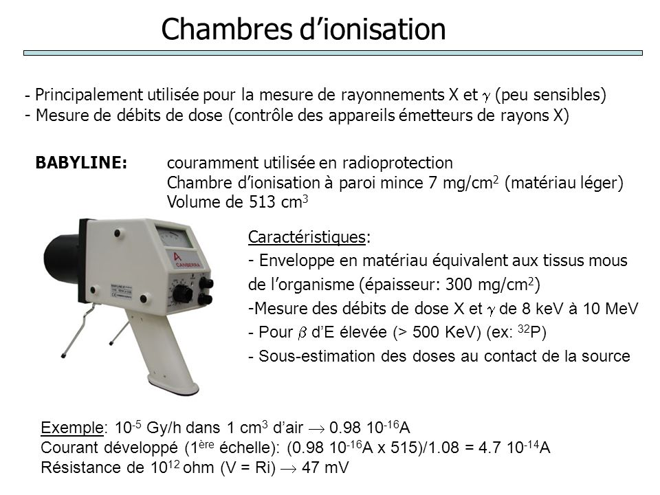 Chambres d'ionisation