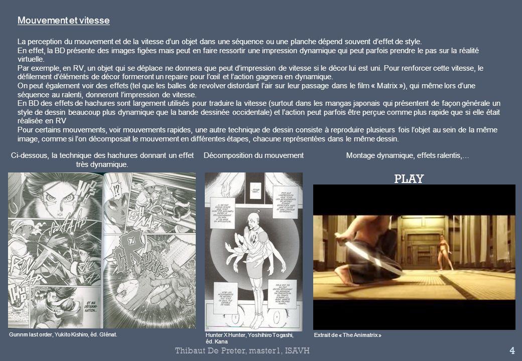 PLAY Mouvement et vitesse Thibaut De Preter, master1, ISAVH