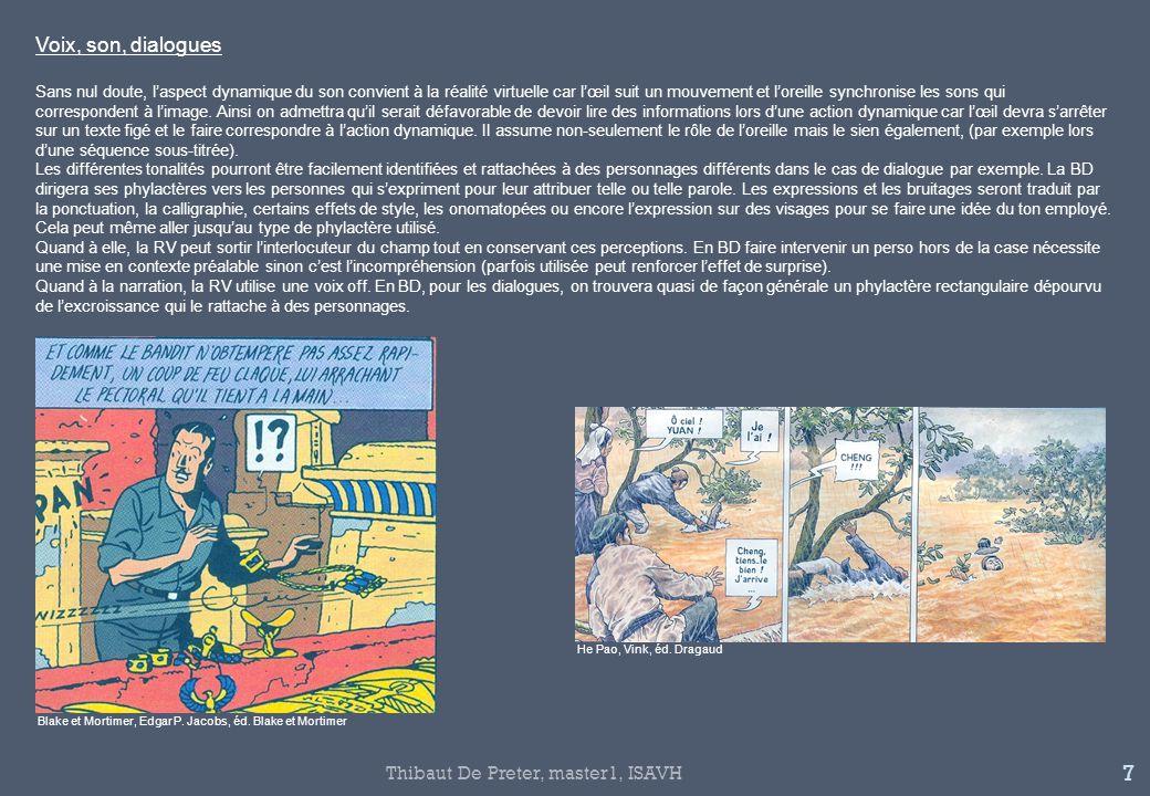 Voix, son, dialogues Thibaut De Preter, master1, ISAVH
