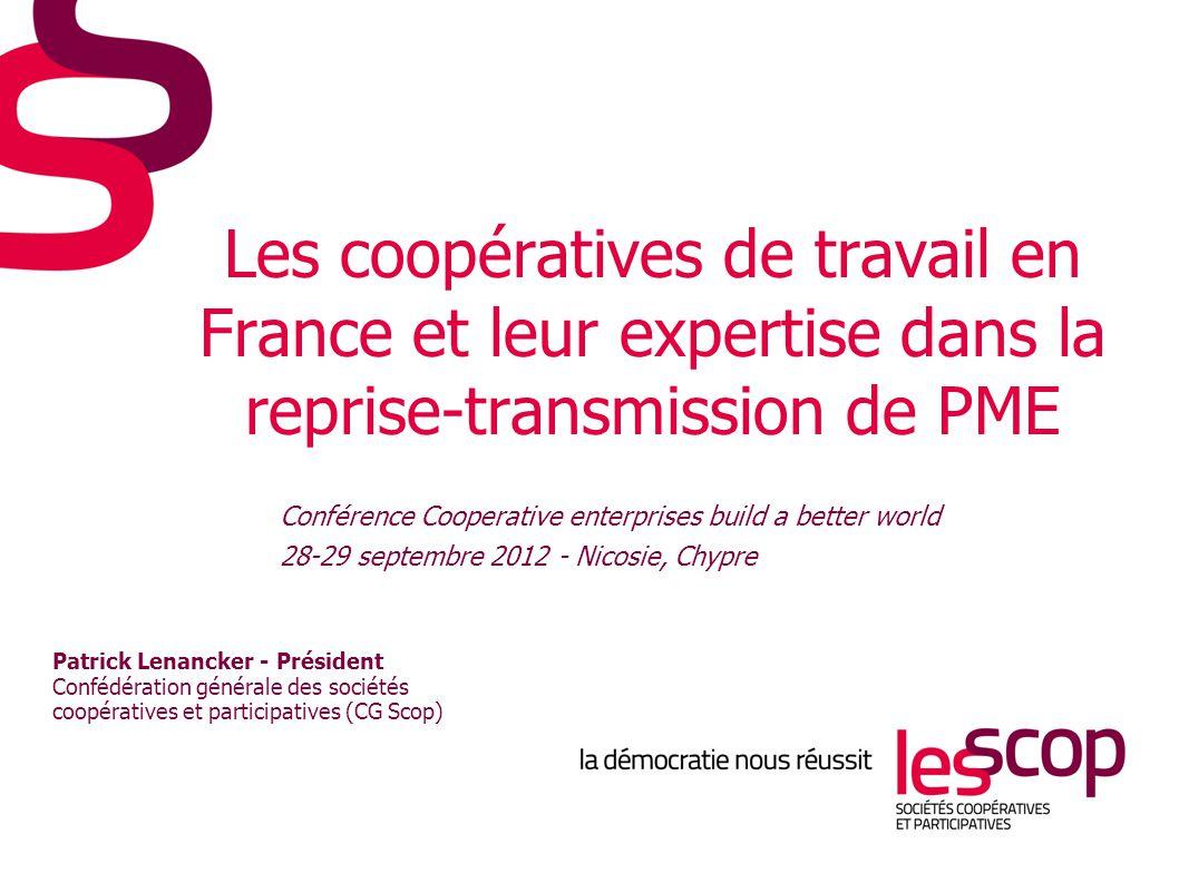 Les coopératives de travail en France et leur expertise dans la reprise-transmission de PME