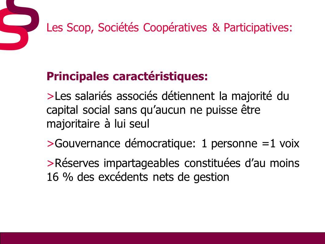 Les Scop, Sociétés Coopératives & Participatives: