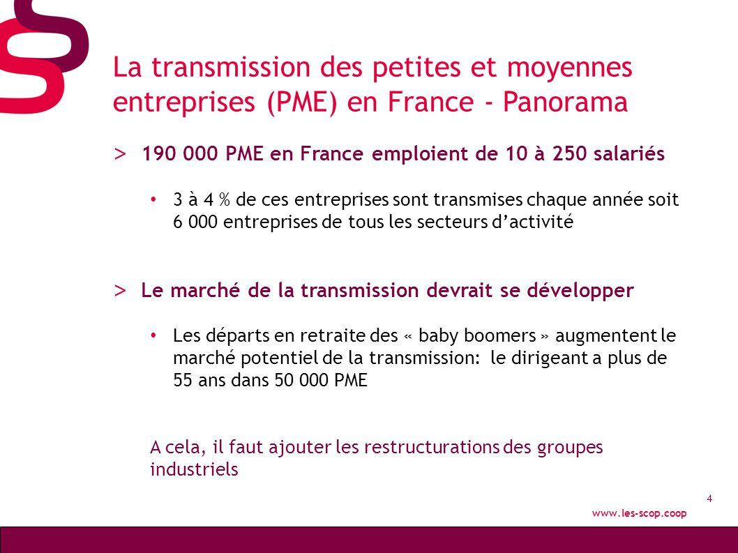 La transmission des petites et moyennes entreprises (PME) en France - Panorama