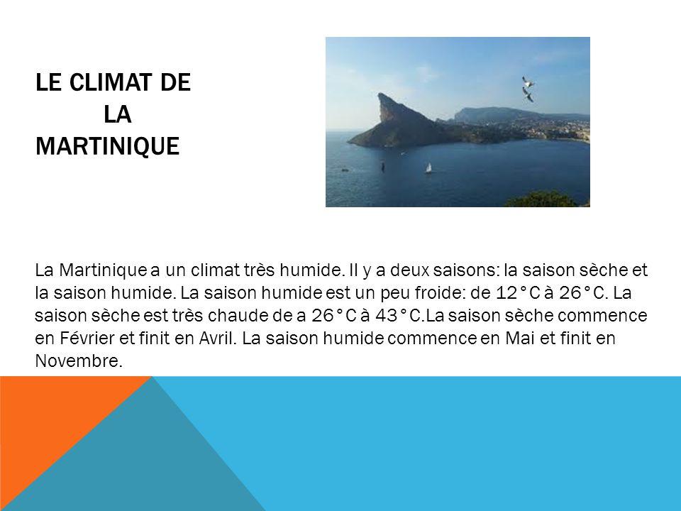 Le climat de La Martinique