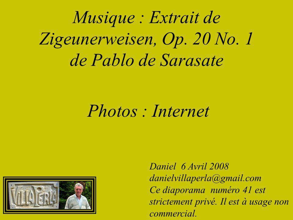 Musique : Extrait de Zigeunerweisen, Op. 20 No. 1 de Pablo de Sarasate