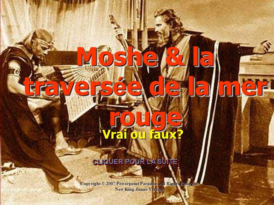 Moshe & la traversée de la mer rouge