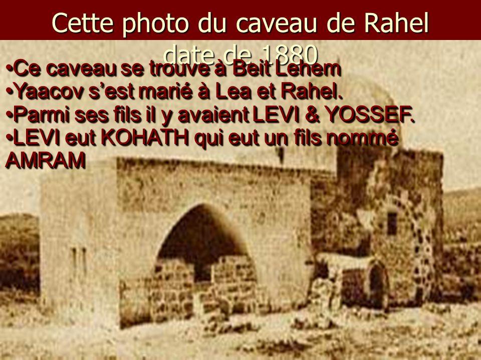 Cette photo du caveau de Rahel date de 1880