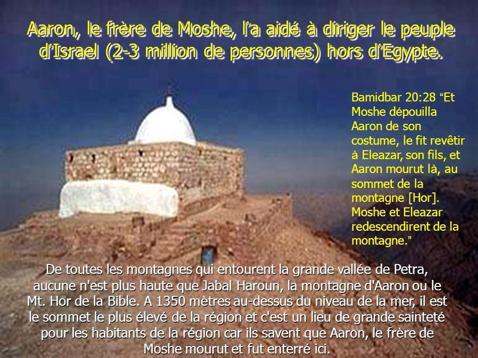 Aaron, le frère de Moshe, l'a aidé à diriger le peuple d'Israel (2-3 million de personnes) hors d'Egypte.