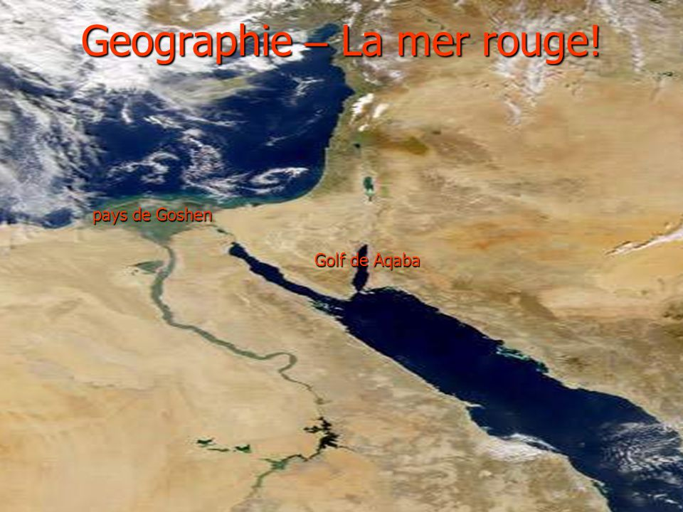 Geographie – La mer rouge!