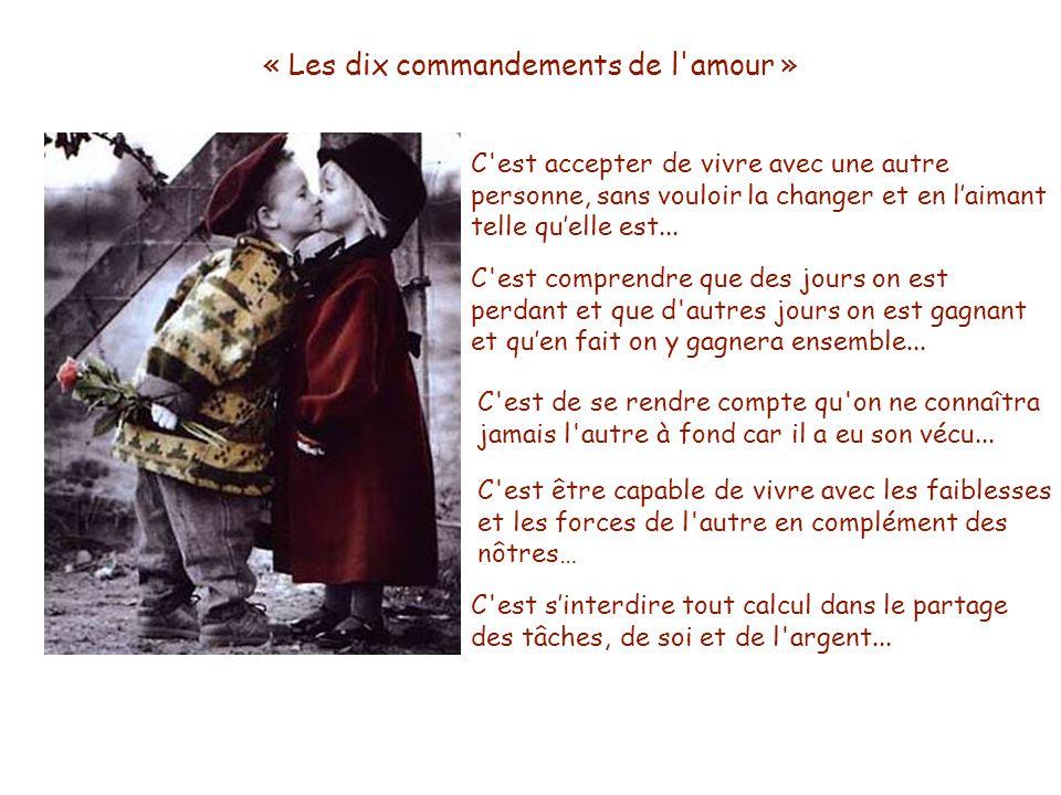 « Les dix commandements de l amour »