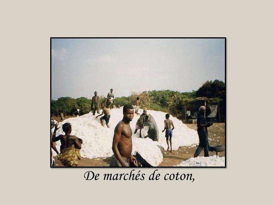 De marchés de coton,