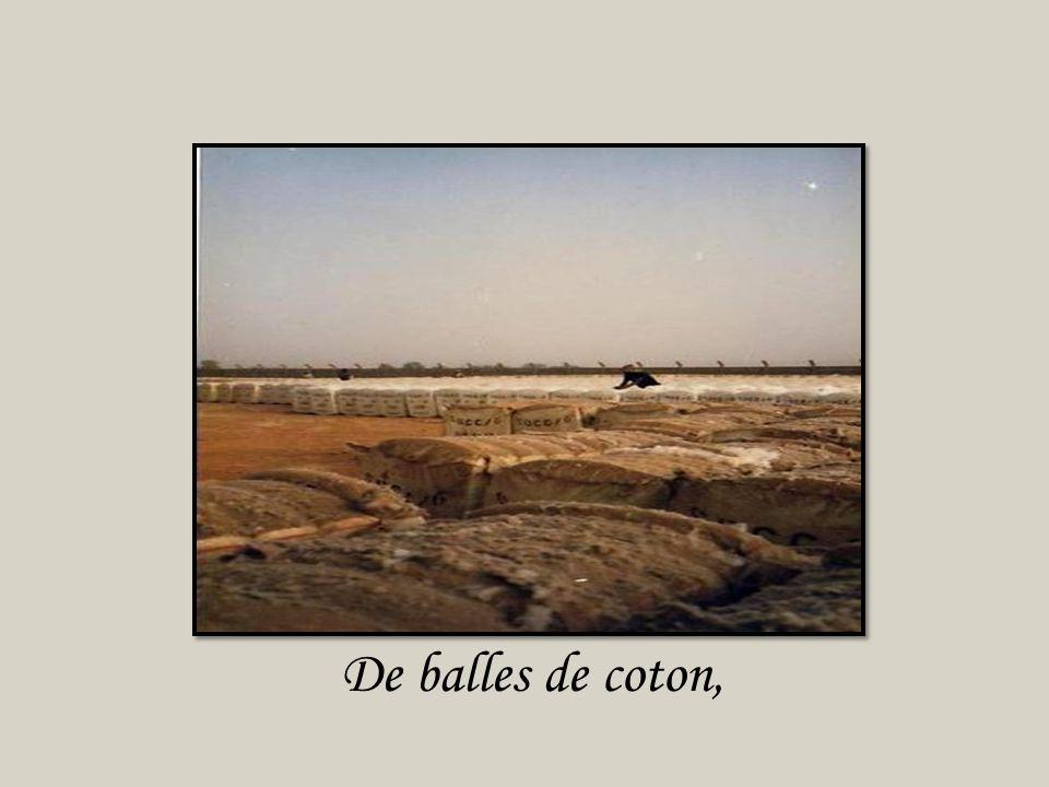 De balles de coton,