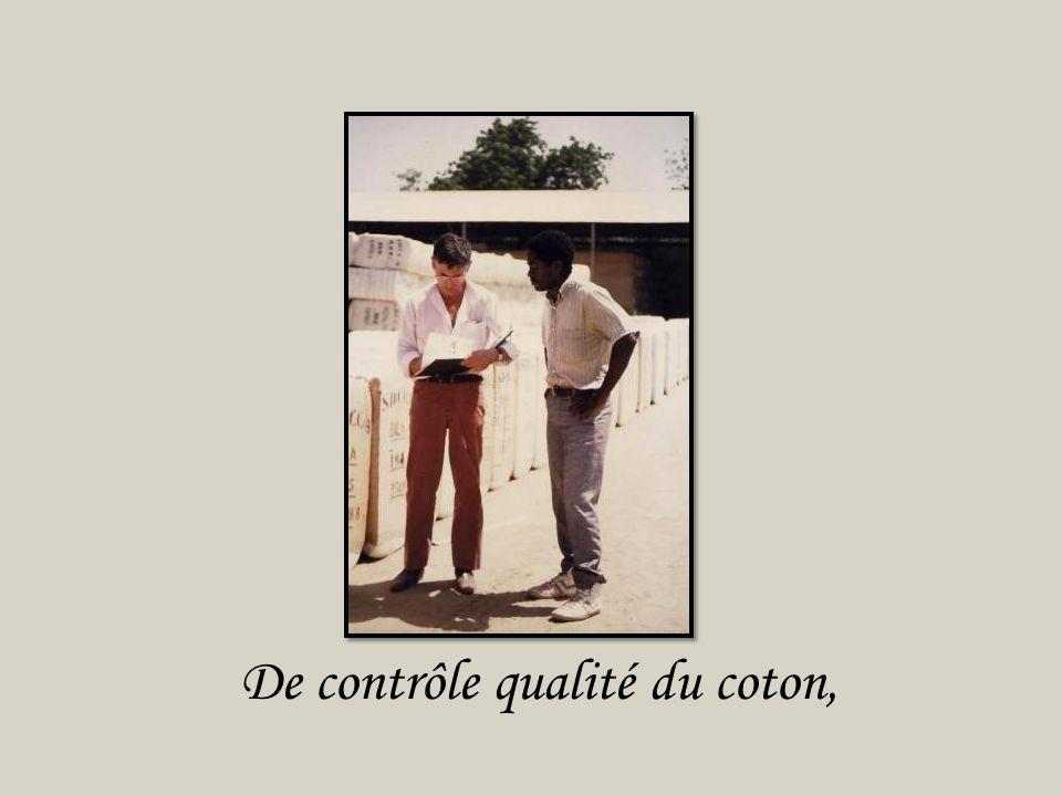 De contrôle qualité du coton,